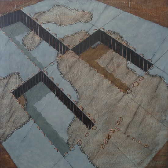 Nameless Place No6. 2011 Oil on paper on canvas. 75x75cm