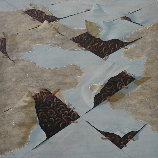 Nameless Place No8. 2010-2011 Mixed media and oil on canvas. 75x75cm.